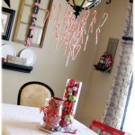 Make A Candy Cane Chandelier