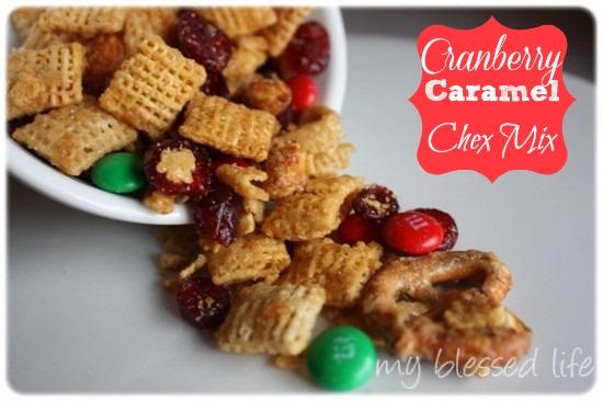Cranberry Caramel Chex Mix | MyBlessedLife.net