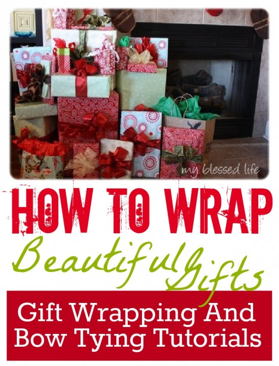 gift wrap tutorial