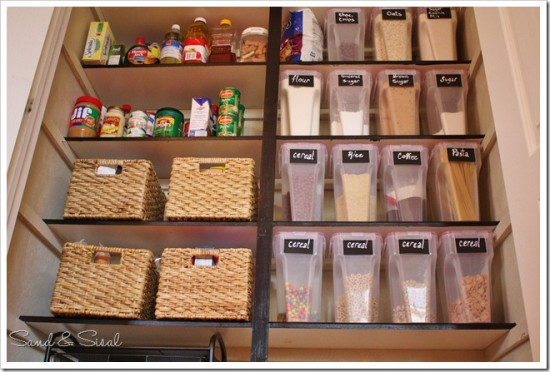 Sand Sisal S Pantry Organization Is Stunning I Love All The Labeled Plastic Bins Swoon