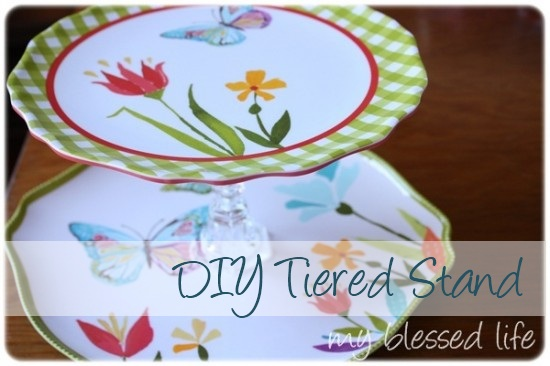 Cute ... & DIY Tiered Plate Stand Tutorial