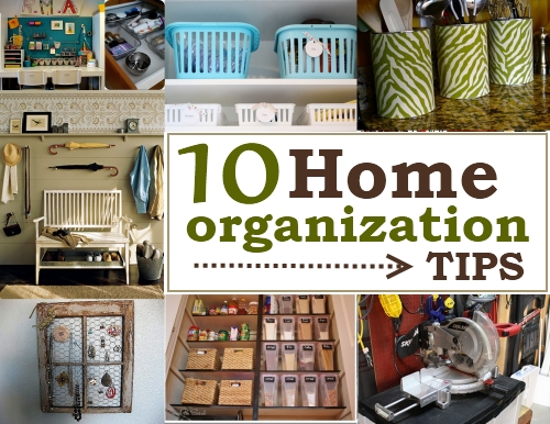 10 home organization tips - Small house organization tips ...