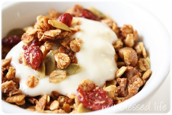 Easy Homemade Granola | My Blessed Life