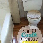 How To Caulk A Perfectly Straight Line | MyBlessedLife.net