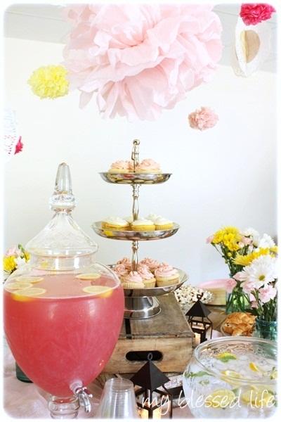 Baby Shower Vintage Pink Lemonade Theme
