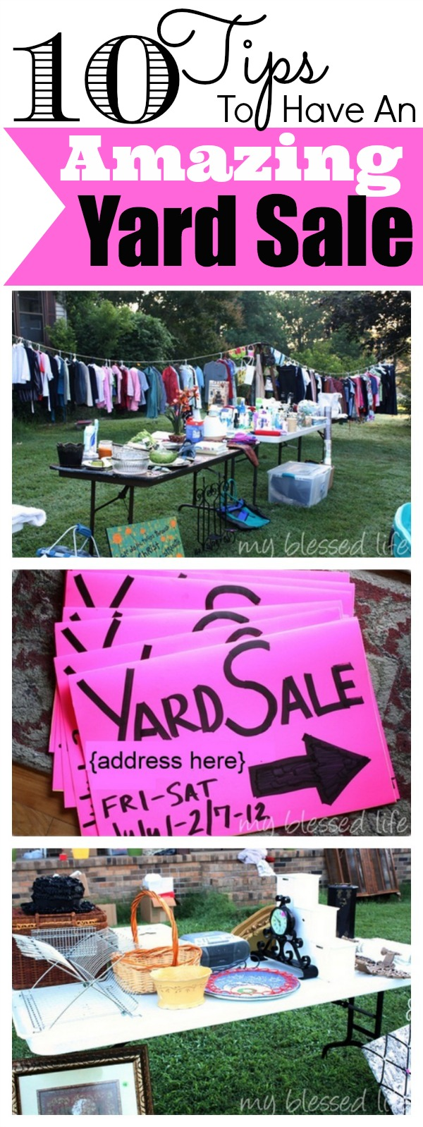 yard sale tips