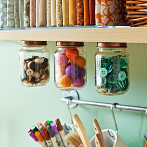 10 craft room organizational tips for Craft supplies organization ideas