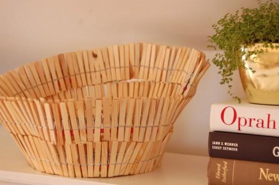 clothespin bowl