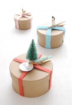 clothespin gift wrap