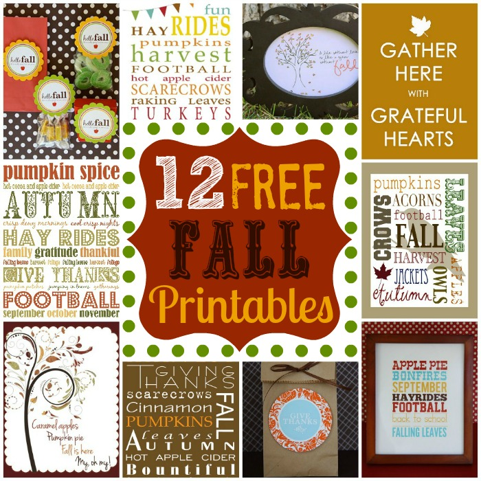 "photograph relating to Printable Fall Decorations identify 12 Cost-free Drop Printables My Fortunate Lifeâ""¢"