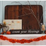 Vintage Fall Mantel {& Fireplace}
