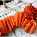 Ruffled Fall Felt Garland