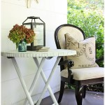 Bamboo Porch Table Makeover