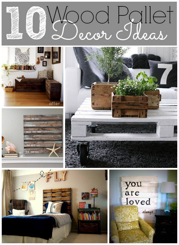 10 wood pallet decor ideas for Decorating ideas using pallets
