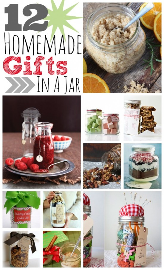 12 homemade gifts in a jar for Ideas for homemade useful christmas gifts