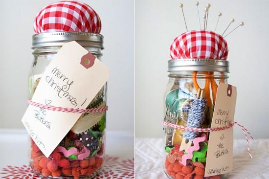 homemade gift sewing kit