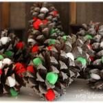 DIY PomPom Pine Cones