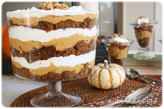 Pumpkin Gingerbread Trifle from My Blessed Life