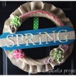Burlap Spring Wreath
