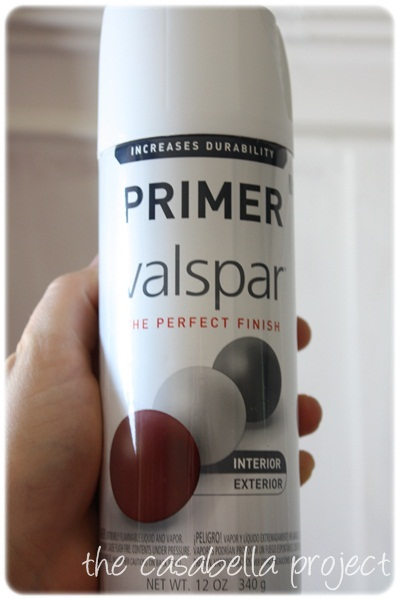 I Picked Up Some Valspar Primer From Loweu0027s And When I Walked Outside On  Saturday Morning To Spray Paint The Garden Seats, I Realized That The Wind  Was ...