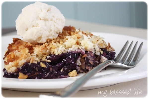 Blueberry Dump Cake Using Pie Filling