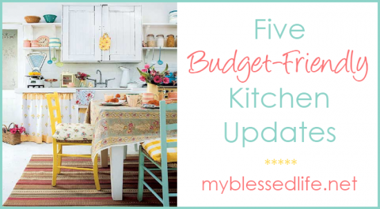 5 budget friendly kitchen updates for Update my kitchen on a budget
