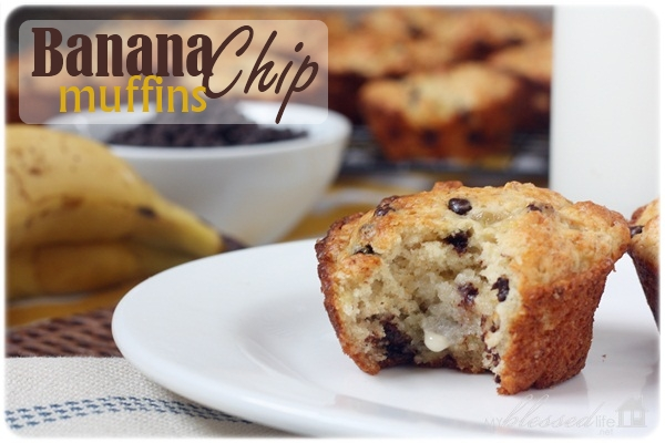 Banana Chip Muffins | MyBlessedLife.net