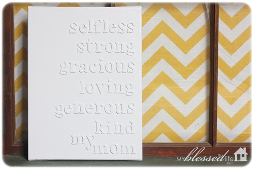 Diy Mother S Day Canvas Craft