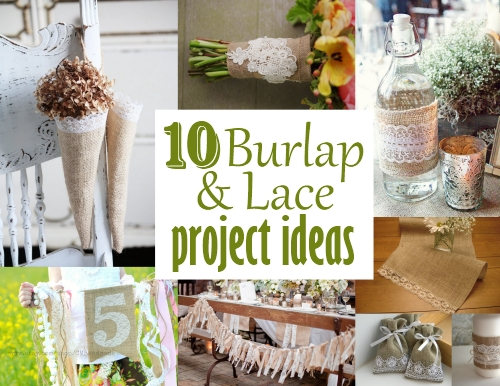 burlap and lace