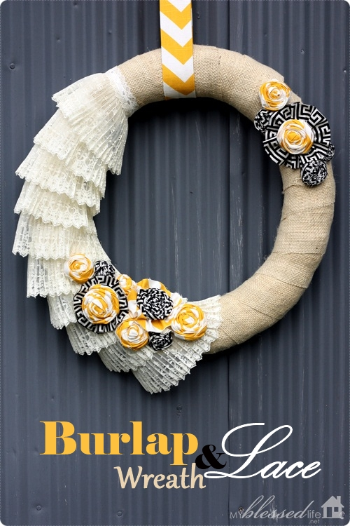 Burlap & Lace Wreath | MyBlessedLife.net