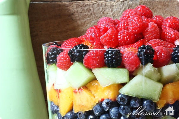 Fruit Salad Beautiful Layered Version My Blessed Life