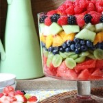 fruit salad bowl with dressing