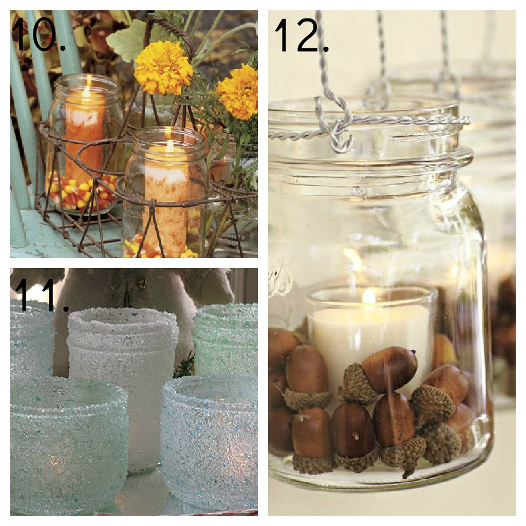 23 Mason Jar Ideas Decor Candles Centerpieces Gardens And More