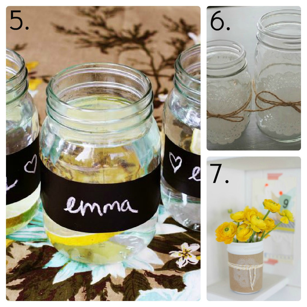 Decorated Mason Jars