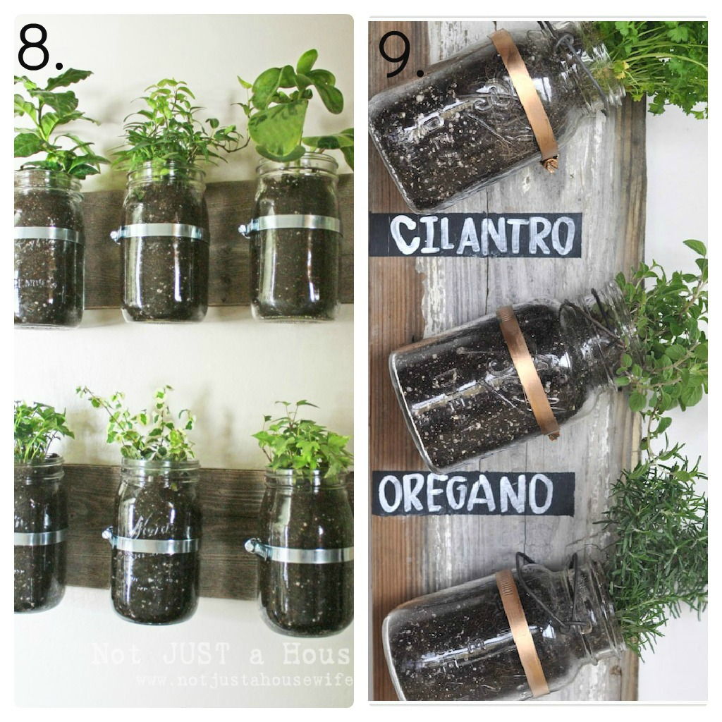 23 mason jar ideas mason jar decor mason jar candles Herb garden wall ideas