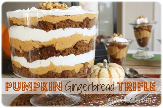 Pumpkin Gingerbread Trifle | MyBlessedLife.net