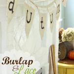 Burlap & Lace Autumn Bunting