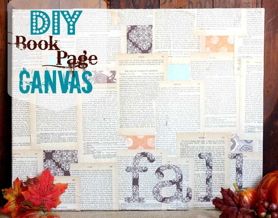 DIY Book Page Canvas