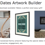 Special Dates Art Giveaway {5 Winners!}