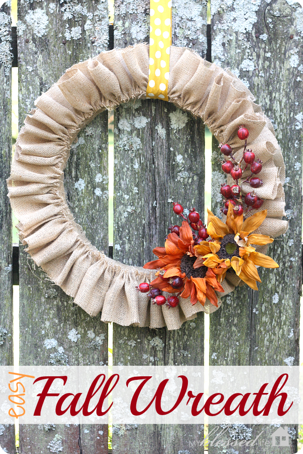 Diy Easy Fall Wreath My Blessed Life