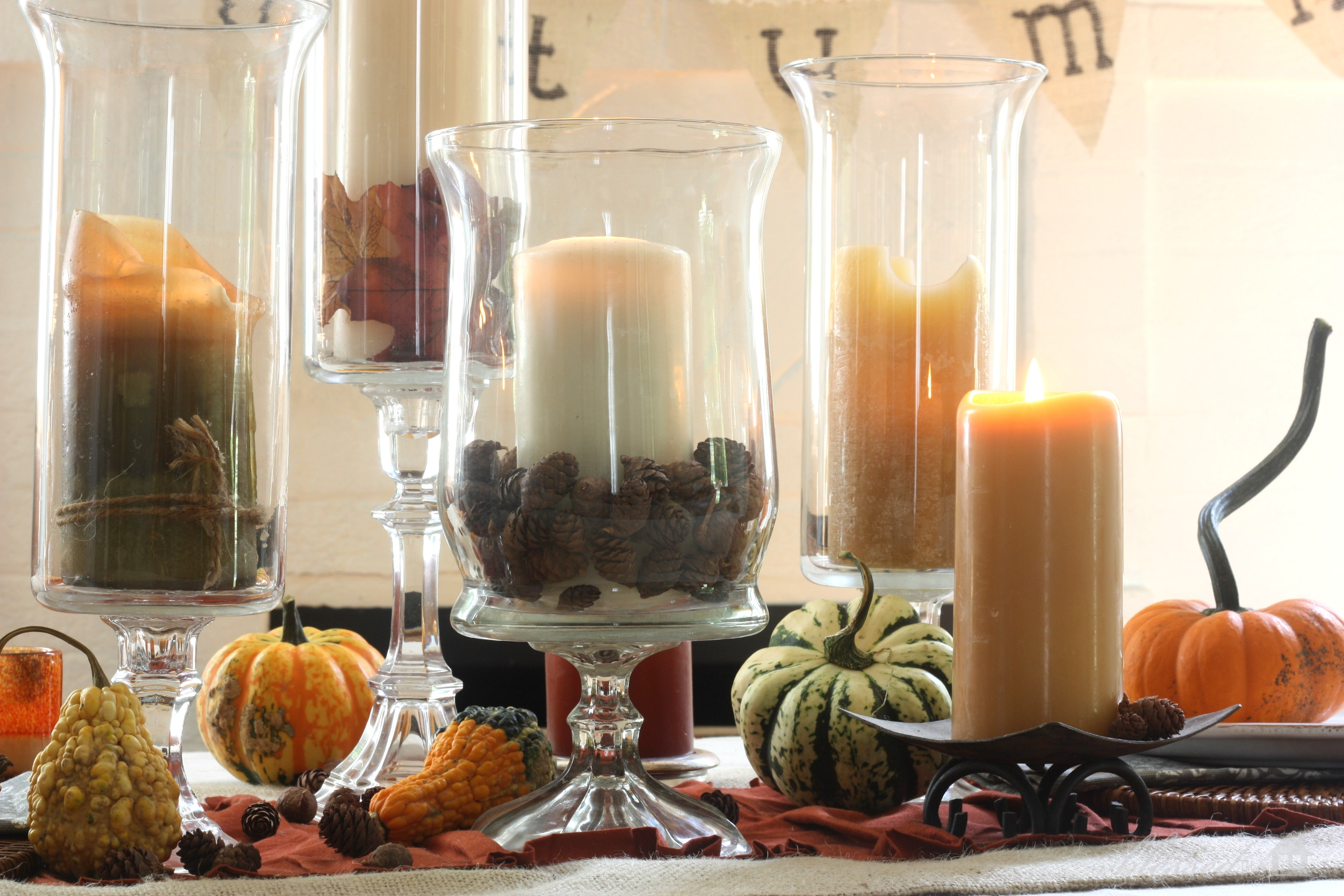 Fall Table Scapes Simple Fall Tablescape