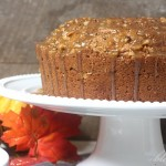 Pumpkin Pound Cake {With Caramel Glaze}