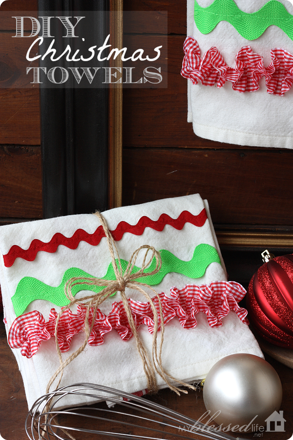 Diy Christmas Kitchen Towels My Blessed Life