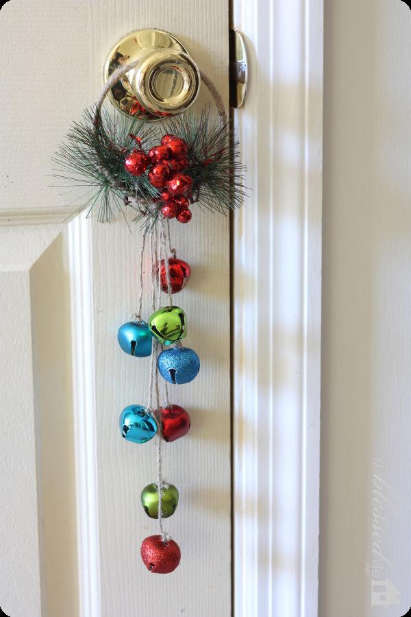 Diy Jingle Bell Door Hanger