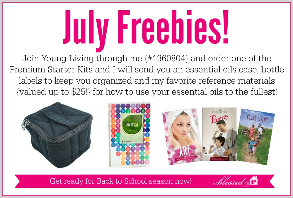 Join Young Living through me in July and receive these amazing freebies!