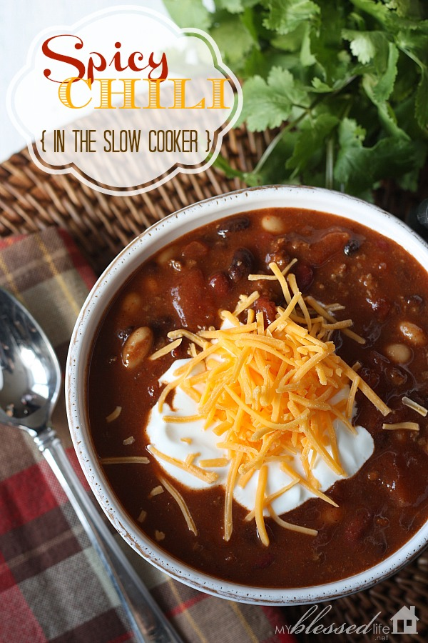 Spicy Slow-Cooked Chili Recipe — Dishmaps