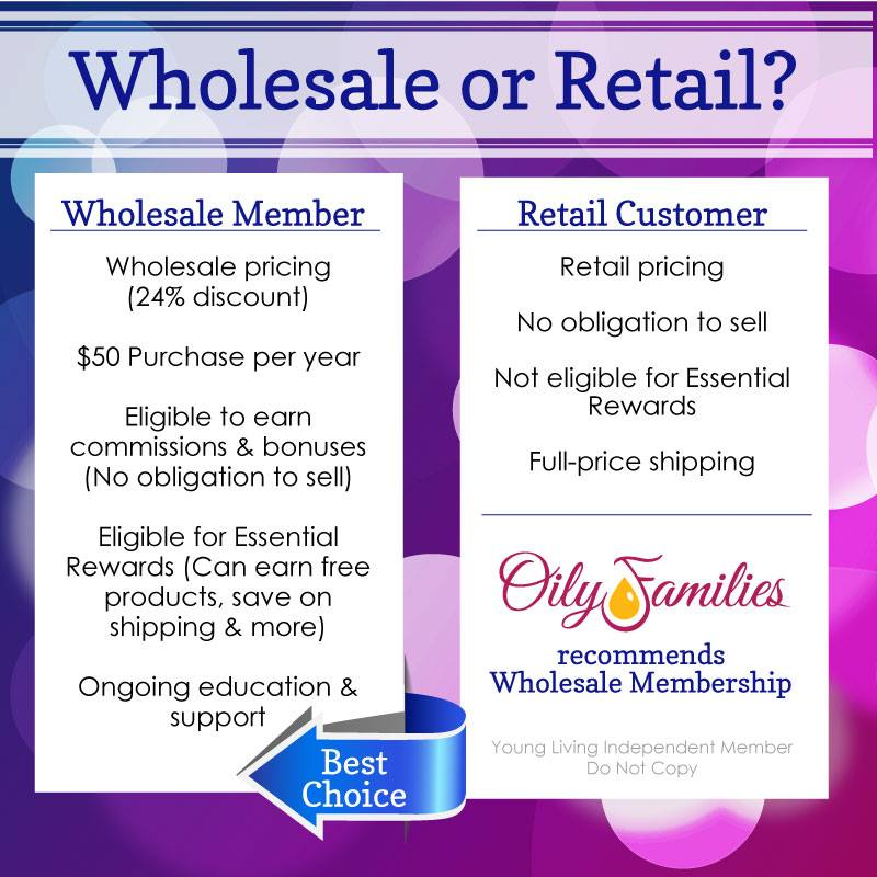 Join Young Living as a Wholesale Member for great benefits and discounted pricing!