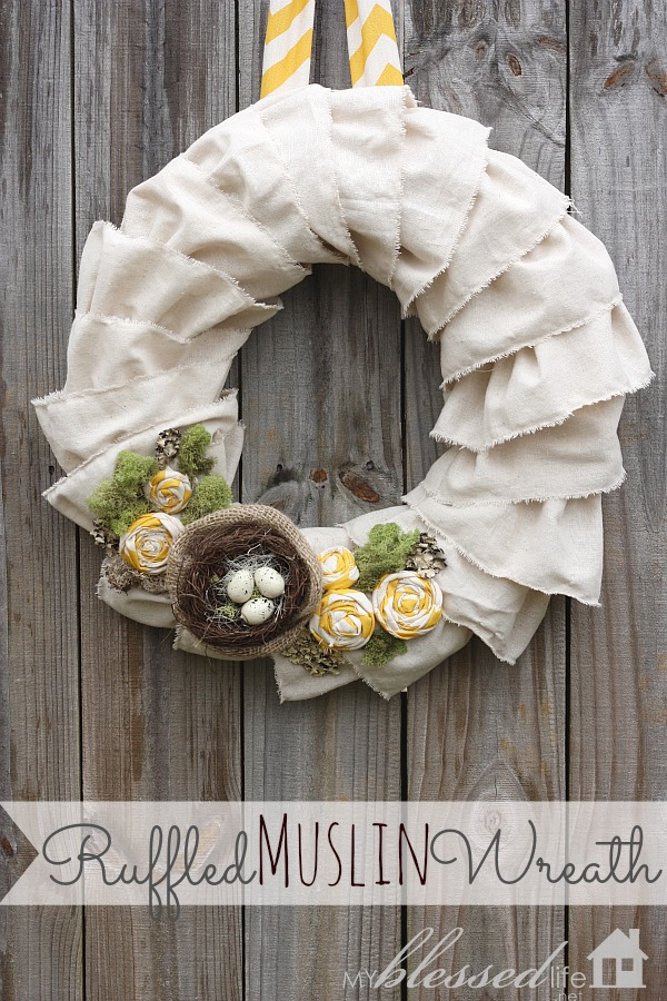 Ruffled Muslin Wreath Tutorial My Blessed Life