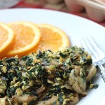 Easy Spinach-Sausage Scramble