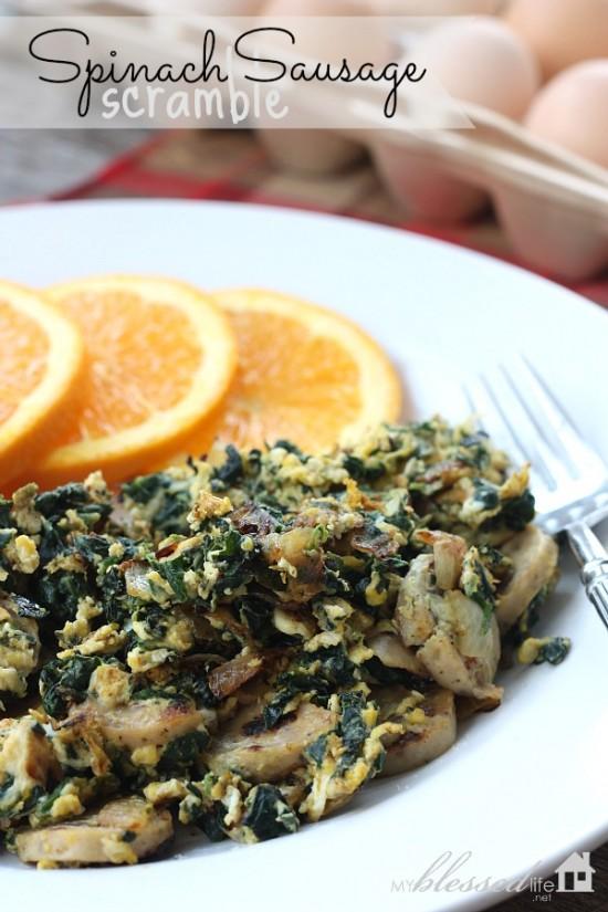 spinach sausage